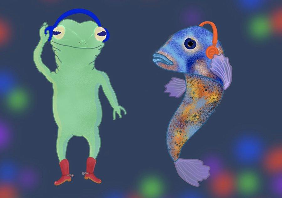 Frog & Fish banner