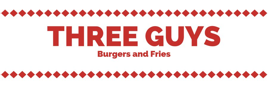 Three Guys (Burgers and Fries) banner